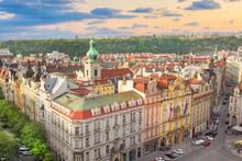 Beautiful View Of Hradcany, Prague's Historic District, Czech Republic