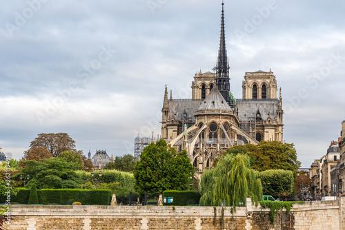 Stickers pour porte Pierre, Sable Notre Dame de Paris cathedral , Paris, France