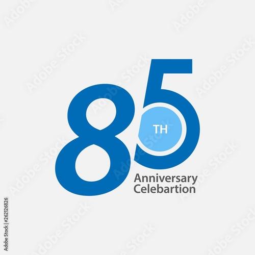 Fotografia  85 th Anniversary Celebration Vector Template Design Illustration