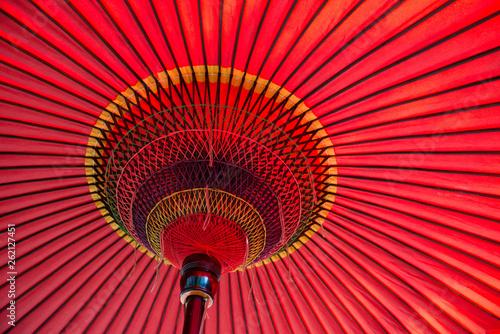 傘, 和傘、日本の赤い傘。
