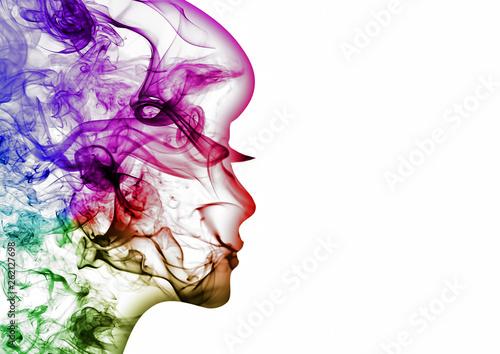 Fotografia 抽象的な女性の横顔