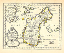 Old Map. Madagascar