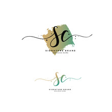 S C SC Initial Letter Handwrit...