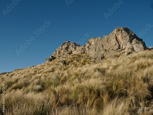 "View at ""El Filo"", the top of a mountain between Cordoba and San Luis provinces, near Villa de Merlo."