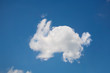 canvas print picture - Rabbit shaped cloud in a blue sky