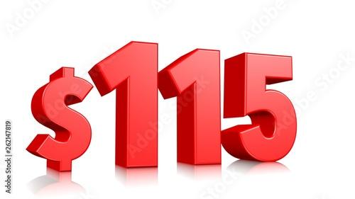Papel de parede  115$ One hundred fifteen price symbol