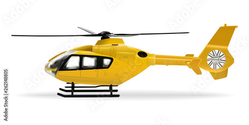 Yellow helicopter Fototapet