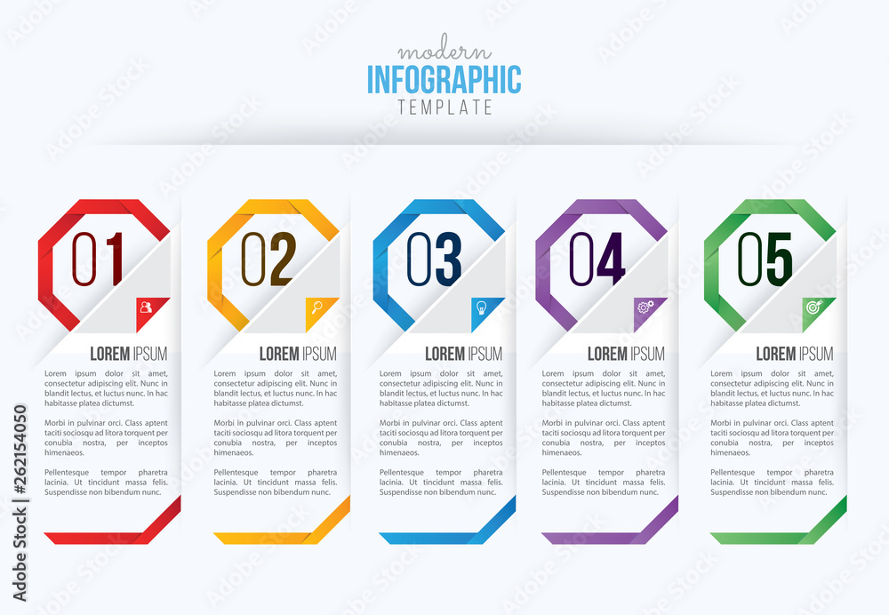 Fototapety, obrazy: Business infographics design vector and marketing icon, workflow layout, diagram, web design