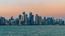 Doha Qatar Skyline Cityscape W...