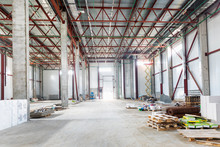Unfinished Warehouse Building, Interior