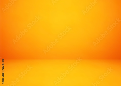 Obraz Empty orange studio room vector background. Can be used for display or montage your products - fototapety do salonu