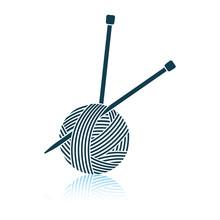 Yarn Ball With Knitting Needles Icon