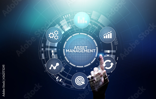 Photo Asset management concept on virtual screen