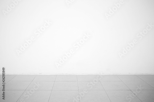 Fotografie, Obraz  Concrete Room with Ceramic Ground Background.