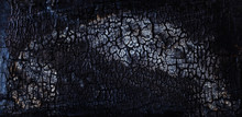 Black Soot On Burned Wooden Wall