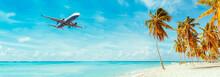 Airplane Landing At Resort