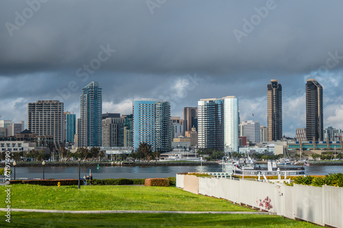 Photo Stands United States Coronado Centennial Park with a view over San Diego Skyline - travel photography