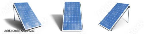 3D illustration solar panels isolated on white background Fototapet