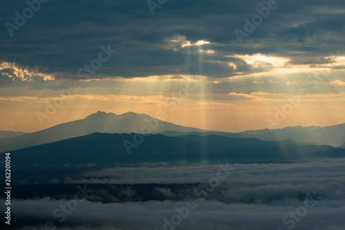 Fotografia, Obraz  斜里岳と眼下に広がる雲海