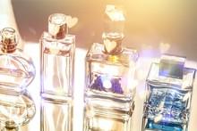 Aromatic Perfume Bottles On Ba...