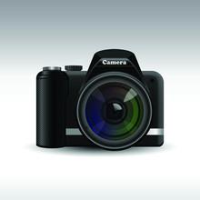 Dslr Photo Camera Vector Design Illustration Isolated On Background