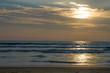 Beautiful landscape a sunset the Arabian Sea in Goa India