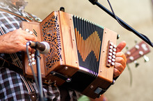 Concertina Popular Accordion Player In The Street