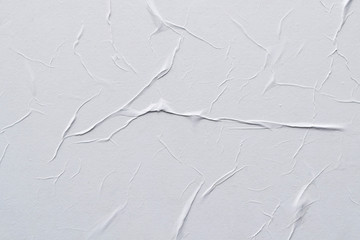 White creased poster texture