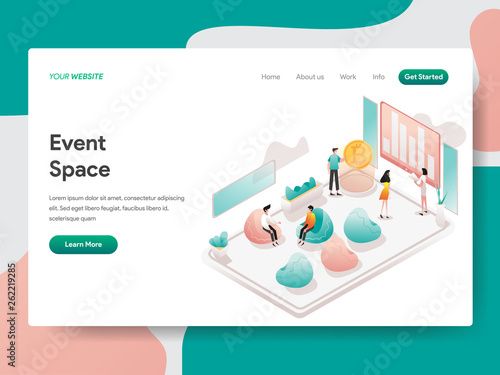 Landing page template of Event Space Illustration Concept Canvas Print