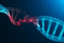3D Illustration Virus DNA Mole...