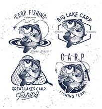 Vintage Carp Fishing Emblems A...
