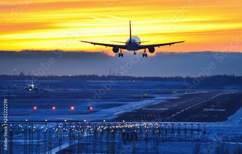 Tuinposter Sunset landing