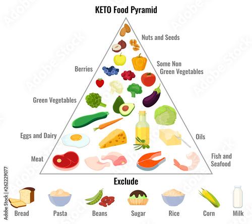 Keto Diet Concept Ketogenic Diet Macros Pyramid Diagram Manual Guide
