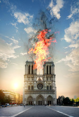 Fire in the Notre Dame