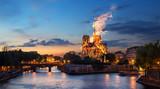 Fototapeta Fototapety Paryż - Fire Notre Dame