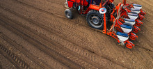 Aerial View Of Tractor With Mo...