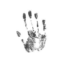 Illustration Of A Handprint.