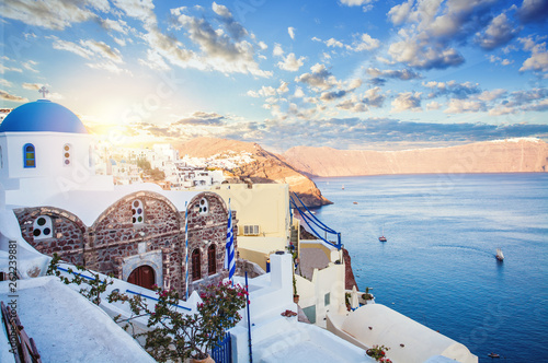 Santorini, Oia town. Greece landmark