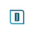 Initial Letter D Logo Template Vector Design
