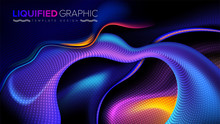 The Background Template Of Curvy Stripes In Vector.  It Is Suitable For Being As A Template, Landing Page, Website, Etc.
