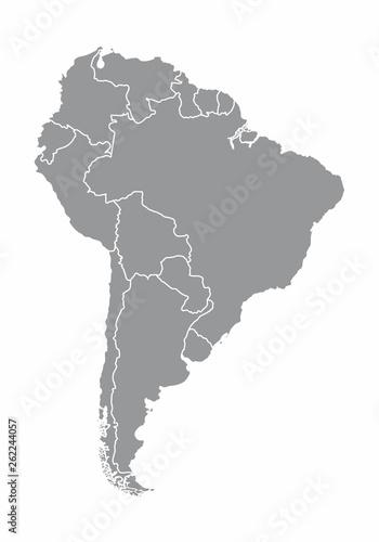 Canvas Print South america map illustration