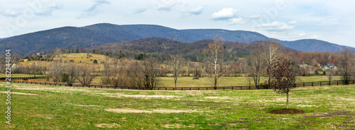 Panorama of Virginia valley with Blue Ridge Mountains in background Wallpaper Mural