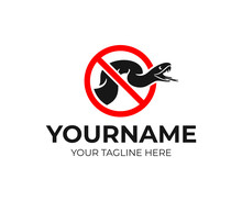 Warning And Prohibition Sign, Venomous Snakes, Logo Design Or Sign. Snake In Aggressive Pose, Animal, Reptile And Predator In Attack, Vector Design And Illustration