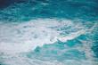 canvas print picture - Meer Ozean Meerwasser mit verschiedenen Wasserfarben