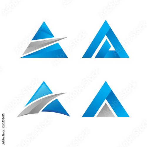 Triangle logo vector icon Wallpaper Mural