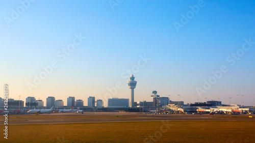Photo  Amsterdam, Netherlands - March 11, 2016: Amsterdam Airport Schiphol in Netherlands