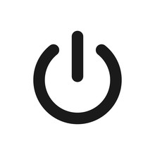 Power Off Icon. Power On Icon. On-Off Icon Vector Illustration
