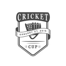 Cricket Cup Logotype.