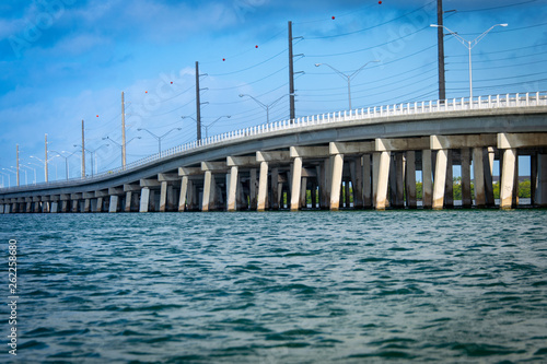Photo  Waterlevel shot of the Boca Chica Bridge as it enters Stock Island headed to Key