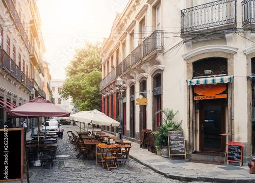 Canvas Prints Rio de Janeiro Old street of Centro in Rio de Janeiro. Brazil